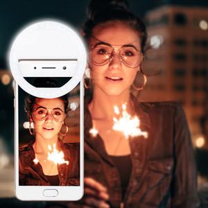 LED сеого Ring Flash Light Fit Dim окружающей среда Автоспуск Light Tool таблетка камера Портативный клип Световой Кольцо для сотовых телефонов SY0502