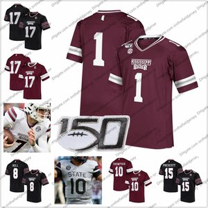 Jersey de fútbol personalizado de los Mississippi State Bulldogs 150TH Cualquier nombre Número # 7 Tommy Stevens 32 Brian Cole 40 Erroll Thompson 73 Darryl Williams