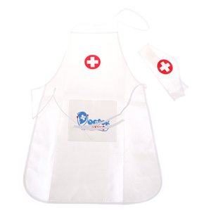 Hot Kids Simulation Role Play Costume Doctor's Overall White Gown Nurse Uniform Hospital Cosplay Doctor Suits For Children Party