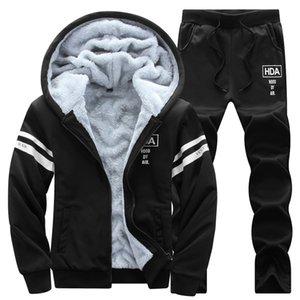 Moletom com capuz moletom com capuz 2020 casaco de lã + terno outono inverno quente logotipo impresso