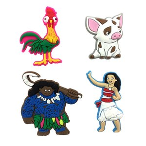 1-4pcs Moana Cartoon Pins badges Brooches Collection DIY Charms Fit Hat Clothes Bags Shoes Decoration X-mas Party Gift