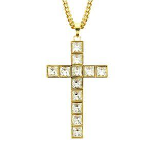 Hip Hop Cross Necklace Hiphop Diamond Set Necklace
