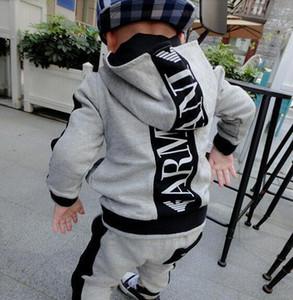 Crianças definir meninos estilo clássico encapuçado terno bebê crianças de manga comprida calças dois conjuntos de produtos novos quentes