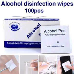 100 Pcs álcool Wet Wipe descartável Desinfecção Prep Trocar pele Pad Anti-séptico de mão Cuidados de Limpeza Jóias Mobile Phone Limpo Limpe