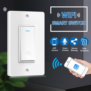 Smart WiFi US Switch Wall Smart Home Automation Wireless Remote Control for Light No Hub Required Work with Alexa Google Home
