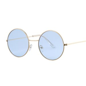 Vintage Round Small Size Mirror Sunglasses Women Brand Designer Metal Frame Lady Sun Glasses Female Cool Retro