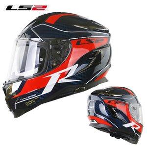 Fibra capacete LS2 FF327 Challenger completa Rosto Motocycle carbono Man Corrida capacete LS2 Casco Moto cascos para moto pinlock