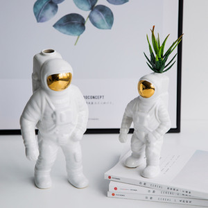 Space Man Astronaut Vase Keramik Modell Einzigartige Astronaut Vase Trockenblumen Weiß Keramik für Table Top Decor Tool
