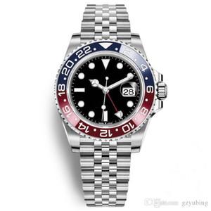 2020 de alta qualidade best seller Hot Sale Luxo Mens relógio de pulso azul Red Ceramic Bezel Aço Inoxidável Pepsi Assista GMT Movimento Relógios de pulso