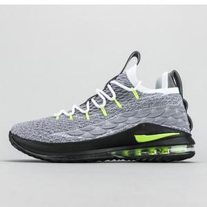 Nike LeBron 15 Low LBJ15 2020 جديد ليبرون 17-مفتاح منخفضة تشكيلة الساخن بيع مع أفضل الرجال والنساء أحذية كرة السلة الشحن مجانا متجر بيع بالجملة