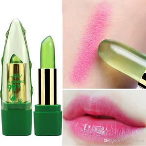 New Batom 99% ALOE VERA Natural Temperature Change Color Jelly Lipstick Long Lasting Moistourizing Lip Makeup