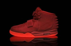 2019 NEW ASLE Designer Shoes Kanye West 2 Basketball Shoes for Mens luxury Sports shoes Red Octobess