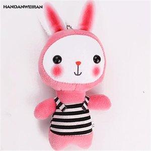 HANDANWEIRAN 1 Unids Nuevo 14 CM Encantador Conejo Relleno de Peluche Juguetes Kawaii Blush Bunny Colgantes Llavero de Peluche de Juguete Regalos para Niños Algodón PP