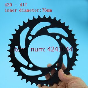 Motosiklet siyah arka zinciri 110 125 140 150 cc çukur Kir Bisiklet Motokros için 420 41 T Diş 76mm Sprockets