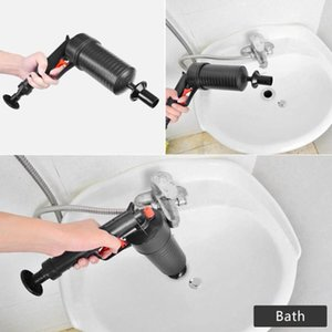 Air Power Drain Blaster gun High Pressure Powerful Manual sink Plunger Opener cleaner pump for Bath Toilets