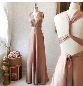 2019 элегантные длинные платья невесты смешанные заказы Дубай Arabric Country Wedding Party Guest Maid of Honor платья формальные