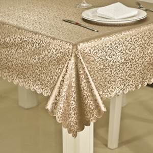 Imperméable de luxe anti-huile chaude table en tissu jacquard fleurs imprimées Couverture Table Table rectangulaire ronde en tissu Accueil Party Decoration