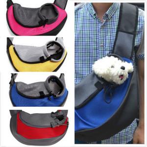 Pet Puppy Carrier Outdoor Travel Handbag Pouch Mesh Oxford Single Shoulder Bag Sling Mesh Comfort Travel Tote Shoulder Bag 4colors