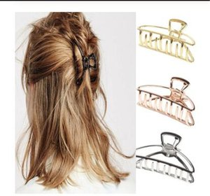 2020 Frauen-Mädchen-Geometric-Haar-Greifer Klammern Haar Crab Mond-Form-Haar-Klipp-Greifer Solid Color Zubehör Hairpin Groß / Mini-Format