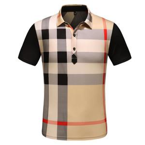 2019 lüks İtalya tasarımcı şerit polo gömlek t shirt Lüks yılan polos arı çiçek nakış erkek Yüksek sokak moda at polo T-shirt