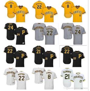 Пользовательские Мужчины Женщины Молодежь PittsburghPirate Джерси 24 Barry Bonds 8 Вилли Старгелл 22Andrew Маккучен 21 Роберто Клементе бейсбол Джерси подарок