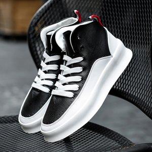 Hip Hop Streetwear Men Chunky Sneakers Casual Shoes Tenis Sapato Masculino Retro High Platform Sneakers Basket Man Walking Shoes