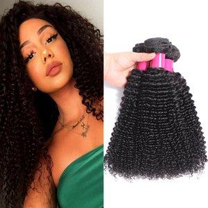 9A Remy brasileño de la Virgen del pelo humano Paquetes Virgen de Remy del pelo 100% del pelo humano brasileña sin procesar onda del cuerpo suelto recto onda rizada de la armadura