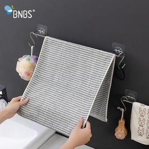 Bnbs baño pared sostenedor del gancho de toalla de acero inoxidable del estante de la cocina del sostenedor de ganchos para las toallas del estante del estante Toallita