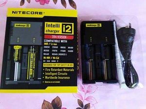 Подлинное Универсальное Зарядное Устройство Nitecore I2 Для 16340 /18650 /14500 /26650 Батарея E Cigs Us Eu Au Uk Plug 2 In 1 Intellicharger Зарядное Устройство