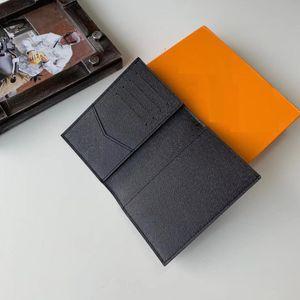 Cubiertas de alta calidad para hombre del titular del pasaporte carpeta de las mujeres flor de la impresión del cuero titular de la tarjeta monedero de las mujeres reales para los pasaportes con bolsa de polvo de la caja