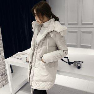 Women Cotton Padded Hooded Coat Medium Long Plus Size Parkas Female Outwear Warm Jacket Wool Clothing