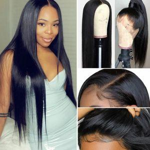 Peruk Avrupa ve Amerika Birleşik Devletleri kimyasal lif dantel peruk kadınlar siyah uzun düz saçları Afrikalı moda kimyasal lif tam kafa