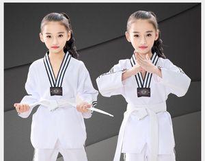 Taekwondo clothing children adult long sleeve short sleeve cotton men and women models custom spring and summer Taekwondo clothing trousers