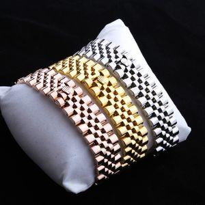 Hochwertige Edelstahl-Kettenarmband Modedesigner Schmuck Frauen Zubehör Mensgoldarmbandarmbänder
