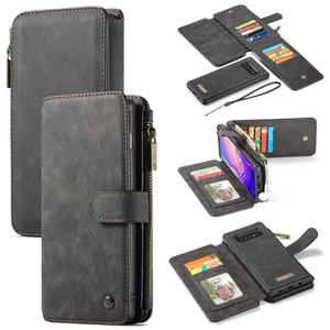 CaseMe per Samsung Galaxy 10 Plus / S10 / S10E / S10 Lite Portafoglio Custodia in pelle con cerniera multifunzione Flip Cover magnetica