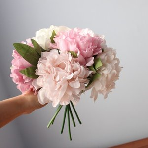 5PCS Silk Peonies Artificial Flower for Wedding Decor Peonies Flower Bouquet Home Party Decoration Fake Flower