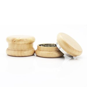 2 Layers 55MM Mini Flat Wooden Smoke Grinder for Smoker Tobacco Grinder As Smoking Accessory High Quality Smoking Accessories