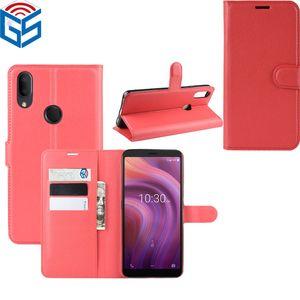 Per Alcatel 1S 3V 2019 PU Premium Portafoglio di cuoio di vibrazione del supporto di carta caso della copertura per Alcatel 3L 2020 1S 2020