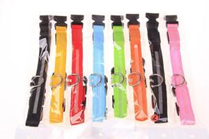 Hot Nylon LED Pet Dog Collar Pet Dog Cat Collar Dog Leash Dogs Luminous Fluorescent Collars Pet Supplies