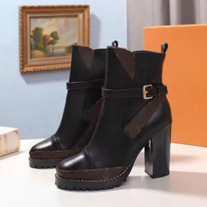 2019 Echtes Leder Frau Stiefel Fashion Ankle Boots Absatzschuhe Winter / Herbst Freie Martin Stiefel Freizeitschuhe Freie DHL Eu: 35-41 von 13 shoe02