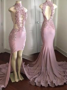 2020 O projeto especial de gola alta vestido de baile Jewel Chiffon Lace Vestido Flores Padrão clássico Prom Sexy Vintage Modern vestido