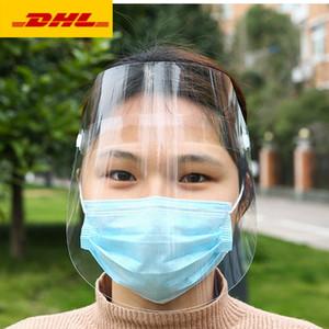 Прозрачные защитная маска анфас щит mascherine подходит для взрослых ребенка дождливого верхом маски лица обложки лица
