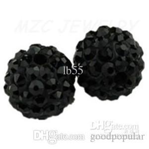 Ücretsiz kargo Siyah 10mm Mikro Açacağı CZ Disco Ball Kristal Bead.8d74 En boncuk takı. w93