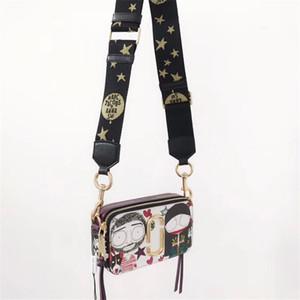 kadınlar lüks tasarımcı torba yönlü Çapraz Deri Kamera Çantası enfes donanım çift fermuar tek omuz mektup çantası renk kontrastı