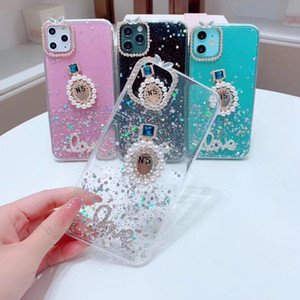 luxury phone case For iPhone 6 7 8Plus XR XSMAX 11PROMAX fashion sparkling pearl perfume bottle Designer phone case back cover