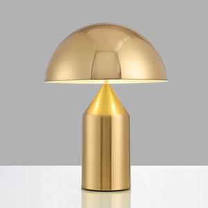 Quarto de luz minimalista pós-moderna estudo luz mesa Nordic personalidade criativa cogumelo candeeiro de mesa