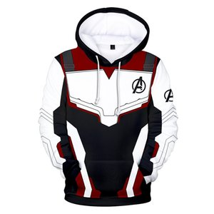 Moda Masculina Avengers Endgame Realm Realm Cosplay Hoodies 3D Suéter Quantum Jacket Superhero Quantum Roupa Realm