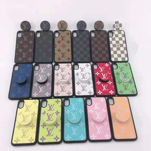 Designer de luxo do telefone iPhone para o caso 11 casos Pro XR XS MAX 8 Samsung Galaxy S10 S10E Além disso Note9 Nota 10 com suporte de aperto