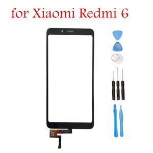 ل xiaomi redmi 6 لمس الشاشة لوحة زجاج الاستشعار Redmi6 لمس لوحة الجبهة الخارجي زجاج استبدال أجزاء أدوات إصلاح