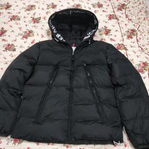 2020 Kalın Isınma Kapşonlu Mektupları Nakış Günlük Moda Kış Ceket Aşağı Ceket Avrupa Boyutu S-2XL rüzgarlık Erkek ceketler